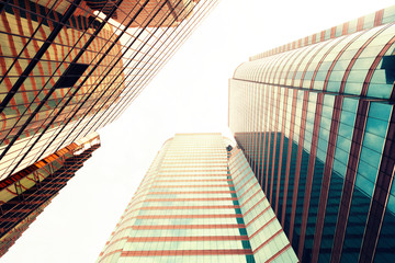 urban buildings exterior up looking