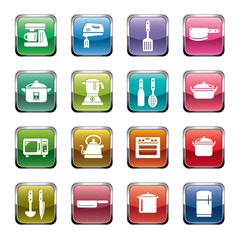 Kitchen Utensils and Appliances Icons
