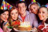Fototapety young company celebrates birthday