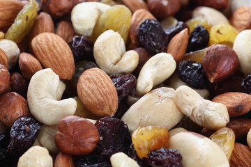 Mixed nuts and raisin