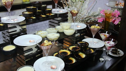 Variety of Desserts on Catering Buffet