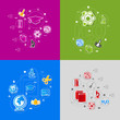 Zdjęcia na płótnie, fototapety, obrazy : Education sticker infographic