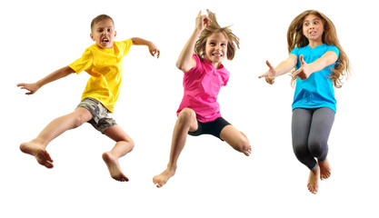 child exercising and jumping