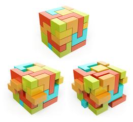 3D box. Cube. Create concept