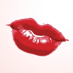 Lipstick, kiss