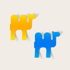 realistic design element: camel