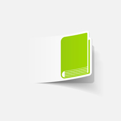 realistic design element: book