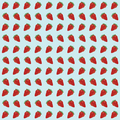 strawberry seamless pattern background. vector illustration.