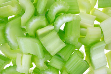 Close view chopped celery