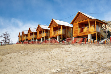 Wooden bungalows