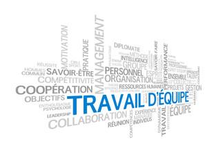 """Nuage de Tags """"TRAVAIL D'EQUIPE"""" (gestion projets esprit)"""