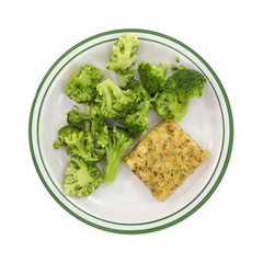 Diet Pollock and broccoli meal.