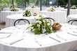 wedding table in the castle - 70076686