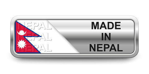Made in Nepal Button