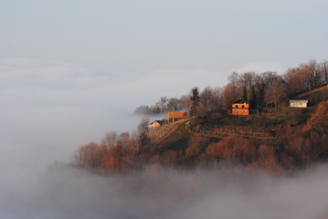 Village above clouds