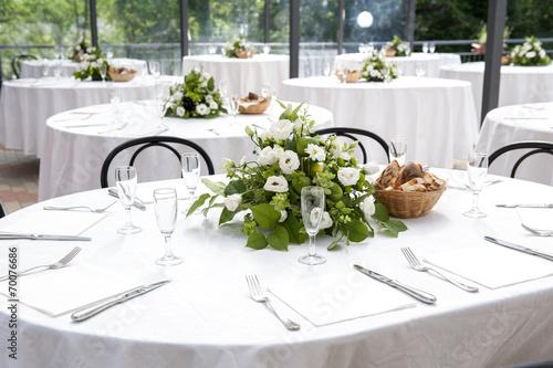 In de dag Buffet, Bar wedding table in the castle
