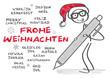 Frohe Weihnachten in mehreren Sprachen