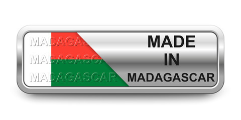 Made in Madagascar Button