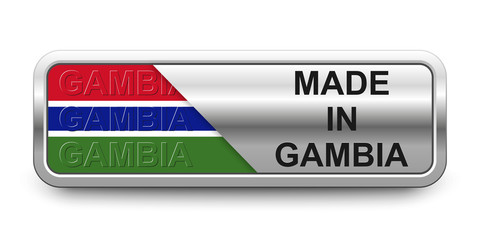 Made in Gambia Button