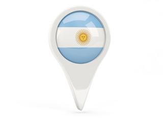 Round flag icon of argentina