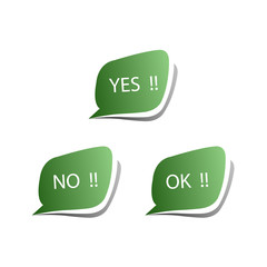 Collect Sticker with Yes, No and OK Check Mark