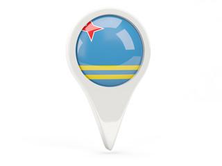 Round flag icon of aruba