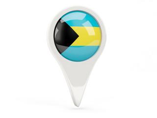 Round flag icon of bahamas