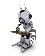 Robot at school desk