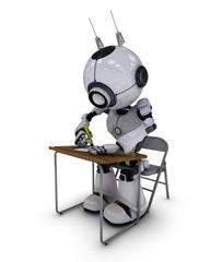 Robot at school desk