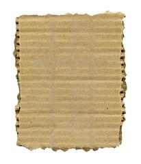 Torn cardboard isolated