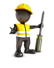 3D Morph Man Builder with screwdriver