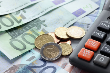 Euro currency and calculator