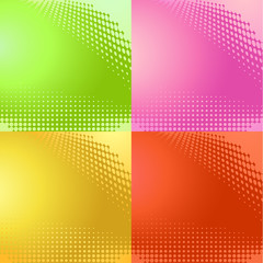 abstract halftone pattern backgrounds