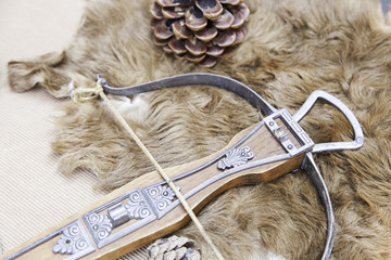 Old medieval crossbow