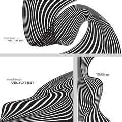 striped design background set