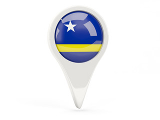 Round flag icon of curacao