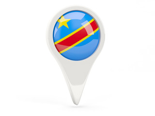 Round flag icon of democratic republic of the congo
