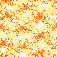Seamless chrysantemum pattern