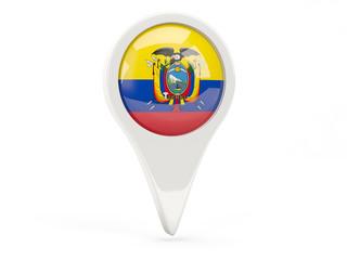 Round flag icon of ecuador