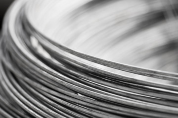 close up steel wire