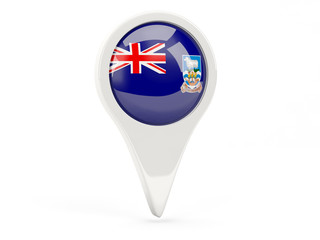 Round flag icon of falkland islands