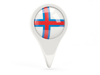 Round flag icon of faroe islands