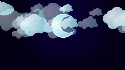 cloudy night sky