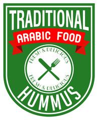 arabic food hummus label