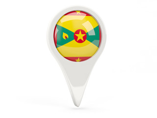 Round flag icon of grenada