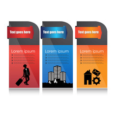 Colorful Banner set design