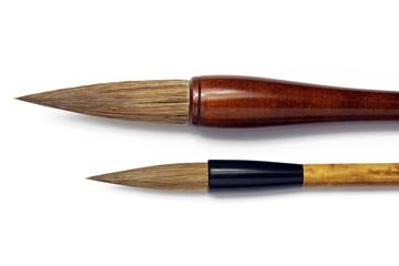 japanese writing brushes isolated on white background