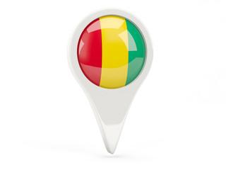 Round flag icon of guinea
