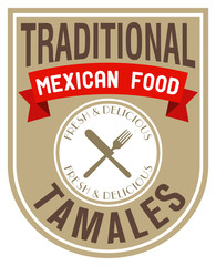 mexican food tamales label