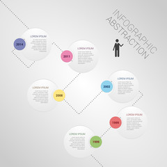modern abstract infographics timeline vector